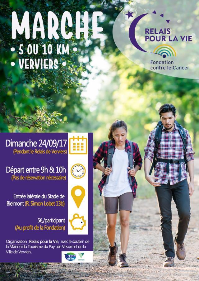 Marche de 5 ou 10 km pendant votre Relais