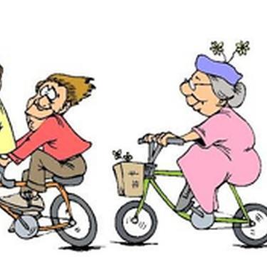 Levensloop op de fiets